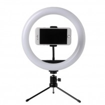Photo LED Selfie Stick Ring Fill Light 10inch Dimmable Camera Phone Ring Lamp avec support trépied