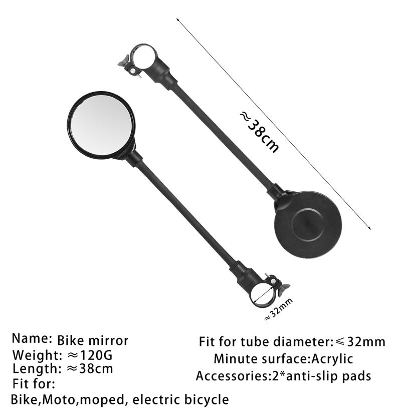 Vélo Miroir vélo-miroir scooter vélomoteur MOBYLETTE Guidon Miroir rétroviseur